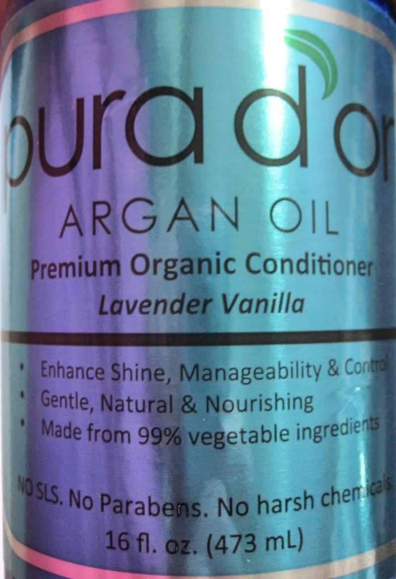 Pura d'Or Premium Organic Conditioner label