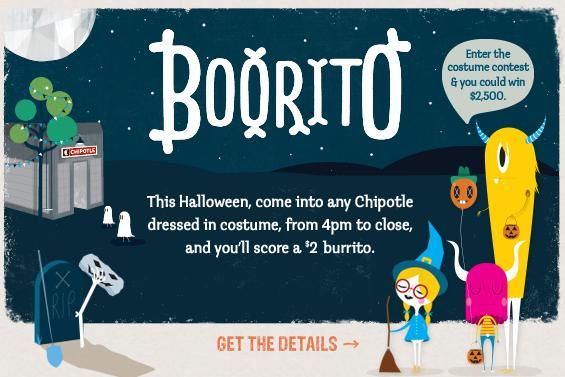 Cheapskate 4 Life: Chipotle Halloween Special - Dress in costume ...