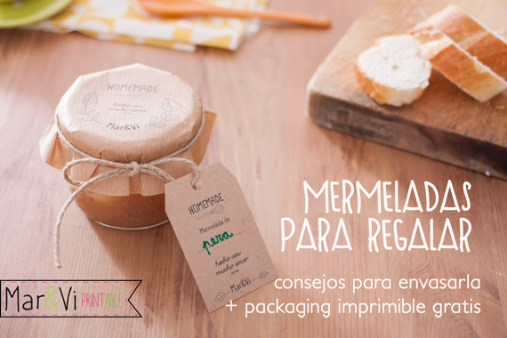 mermeladas para regalar: packaging imprimibles GRATIS