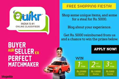 Quikr Activity by BlogAdda