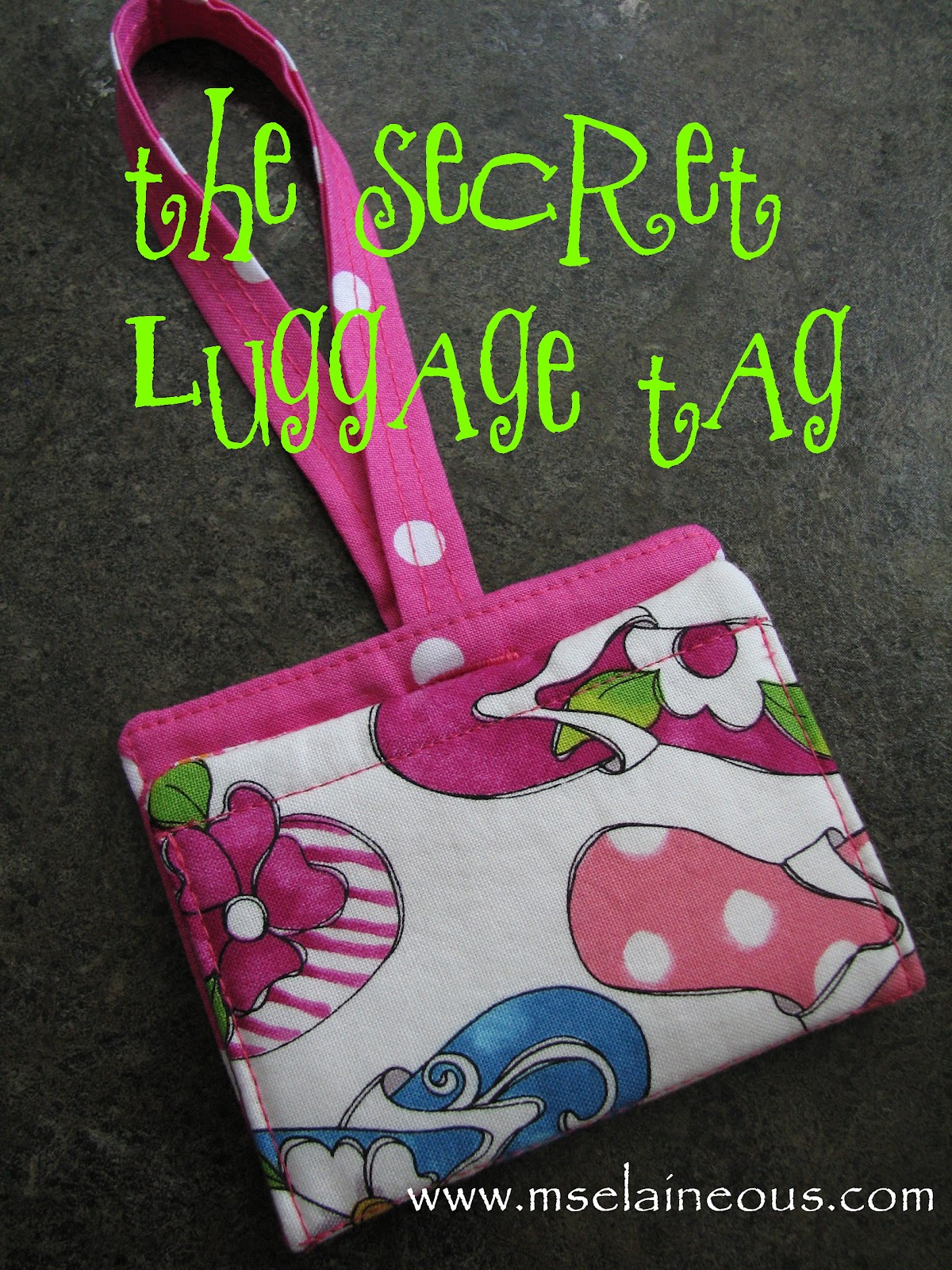 ms elaineous teaches sewing free pattern the luggage tag