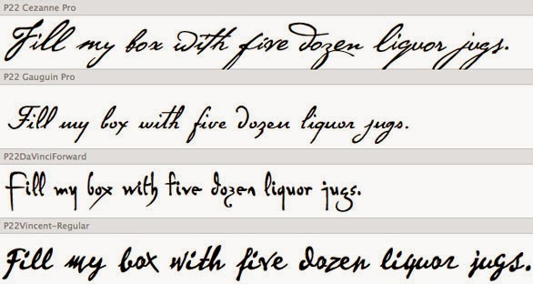 different types of cursive writing