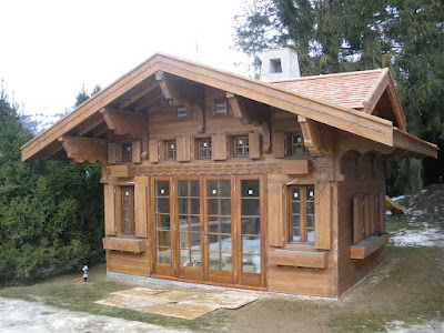 Aplaceimagined swiss chalet for Swiss chalet house designs