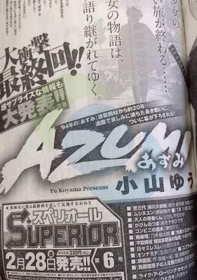 Azumi manga final definitivo anuncio
