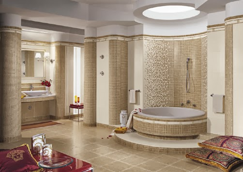 Salon Turquie Moderne : Cream and Beige Bathrooms