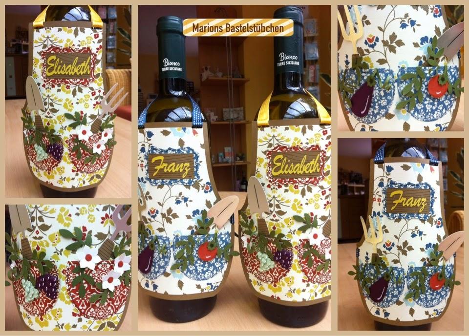Marions bastelst bchen weinflaschen sch rzen - Weinflaschen deko ...