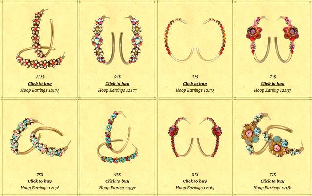 Michal Negrin hoop earrings
