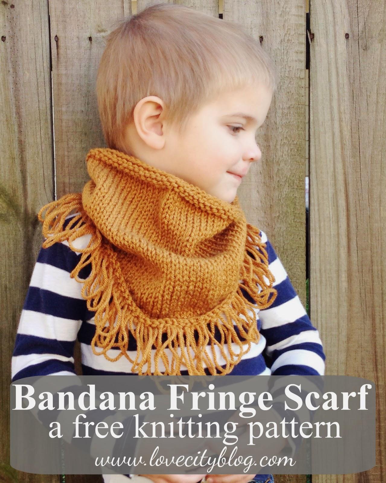 Knitting Pattern Scarf With Fringe : Love City: knitting love {bandanna fringe scarf}
