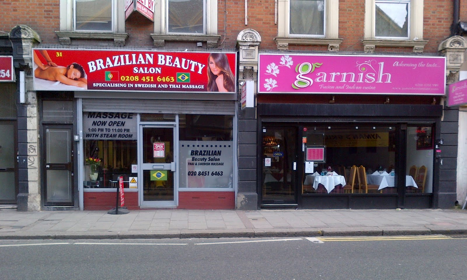The Willesden Herald: Brazilian beauty salon & Garnish restaurant