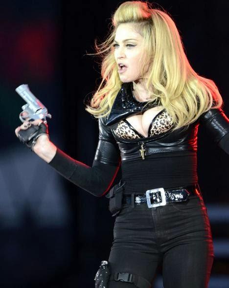 Madonna cop girl with a gun