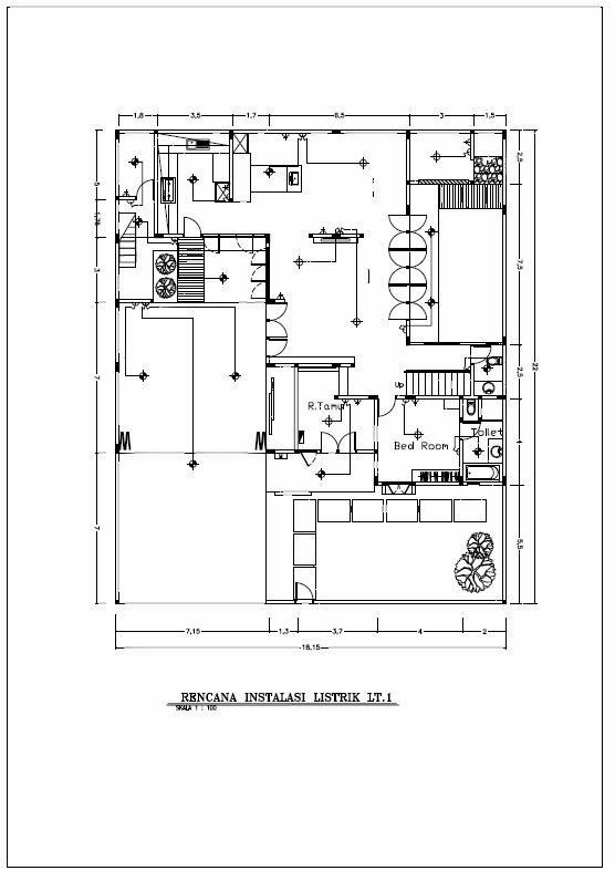 desain rumah 3d gambar kerja drawing 2d rencana instalasi