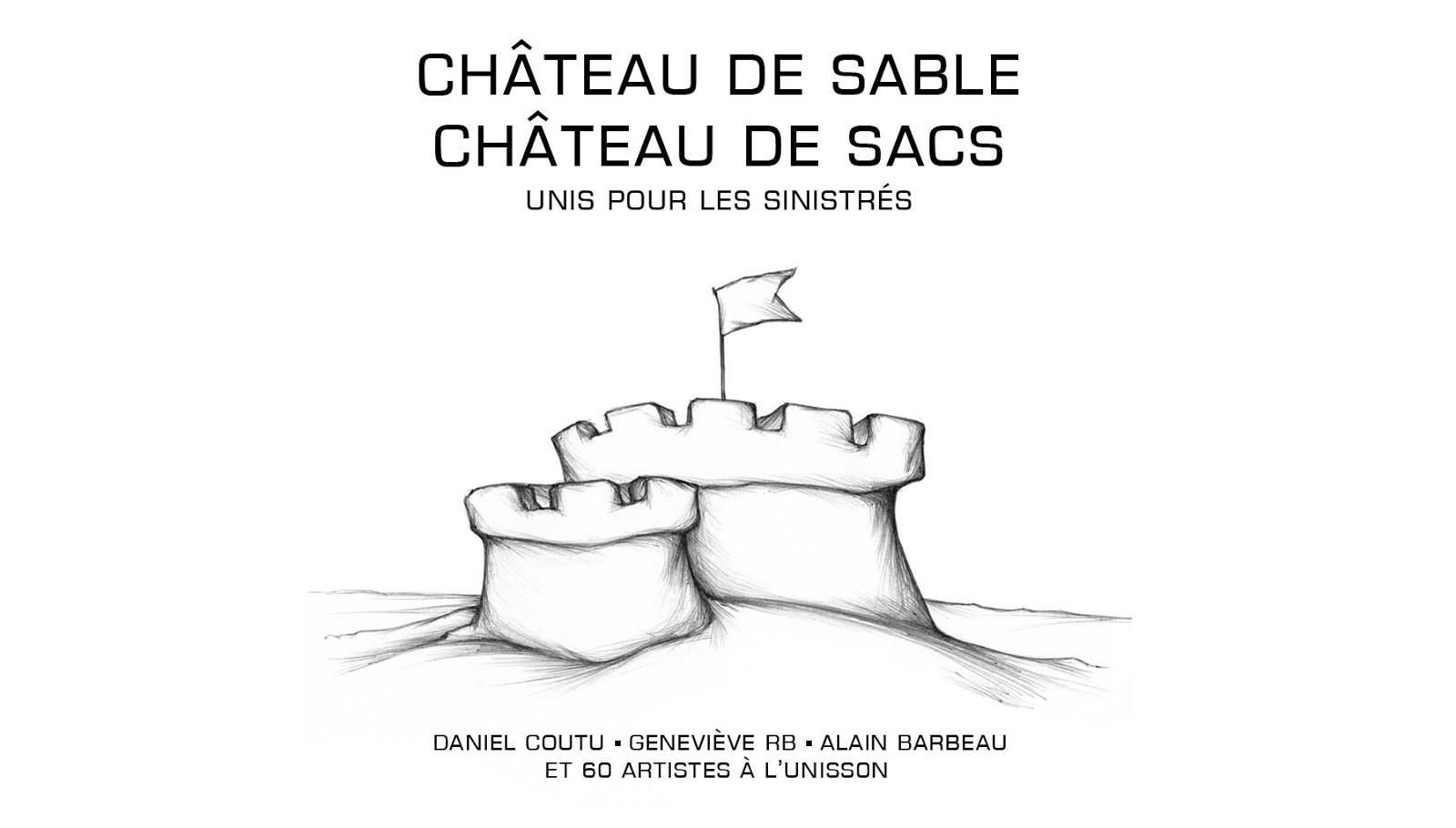 Château de sable. Château de sacs.