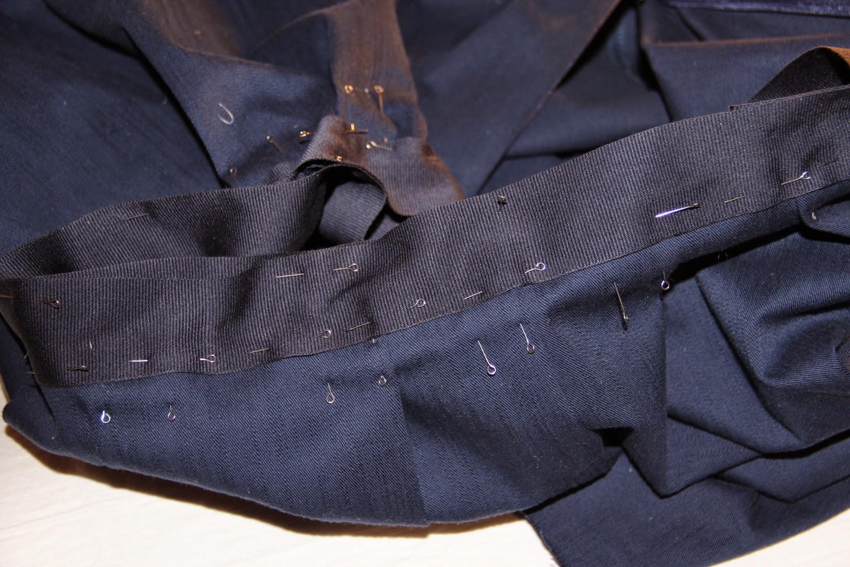 Пояс из репсовой ленты для юбки