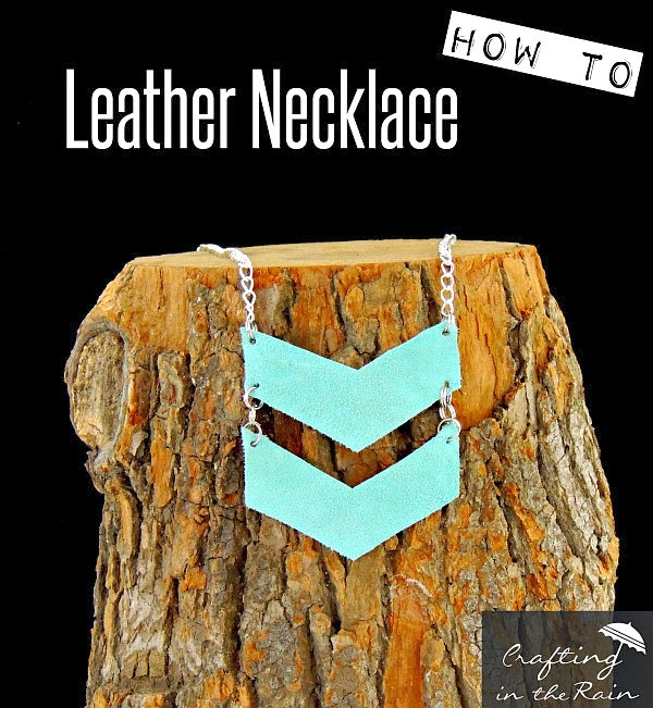 Leather Necklace Tutorial | Crafting in the Rain