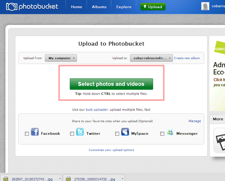 how to create account in photobucket
