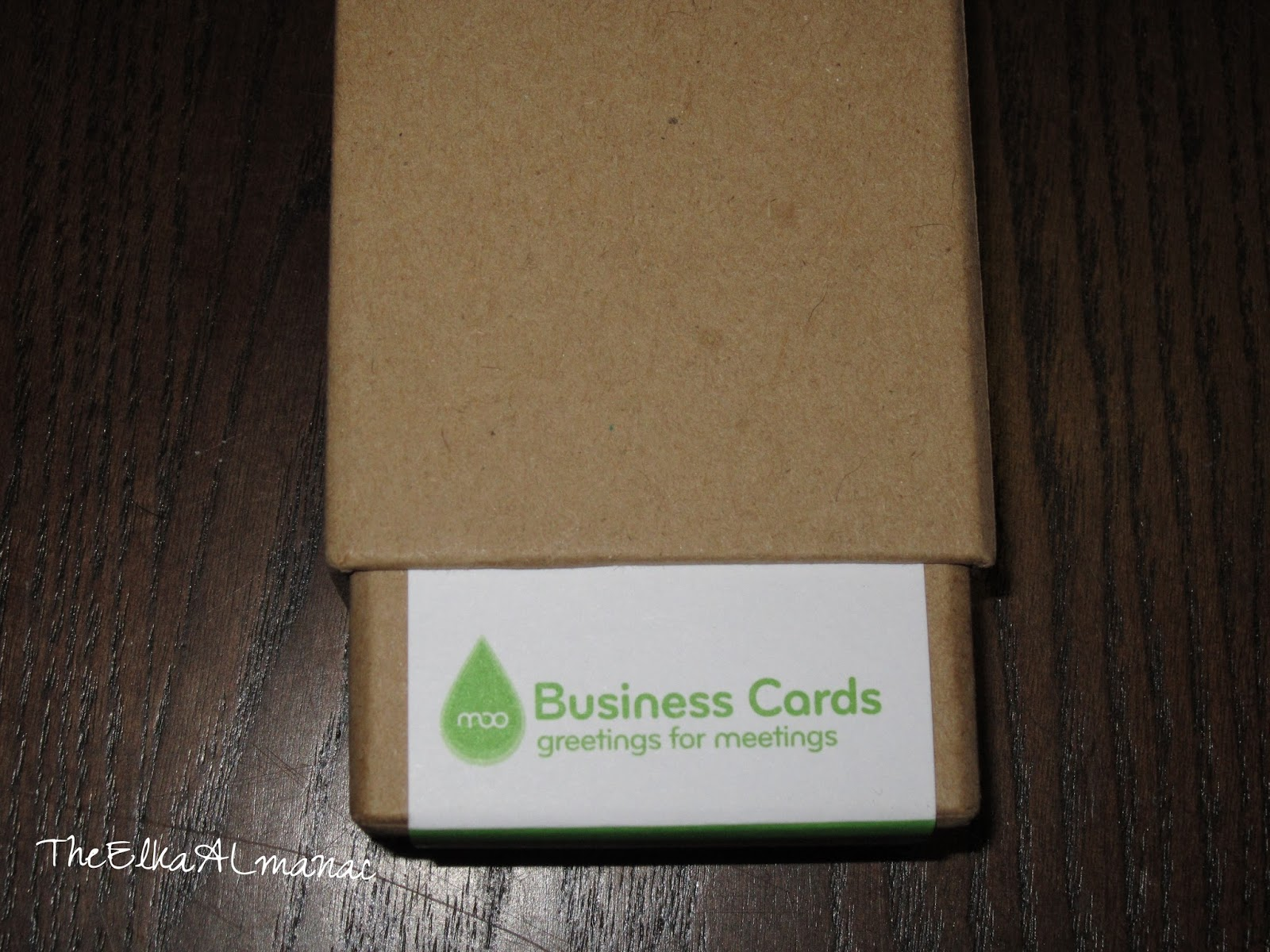 the elka almanac business cards from moo