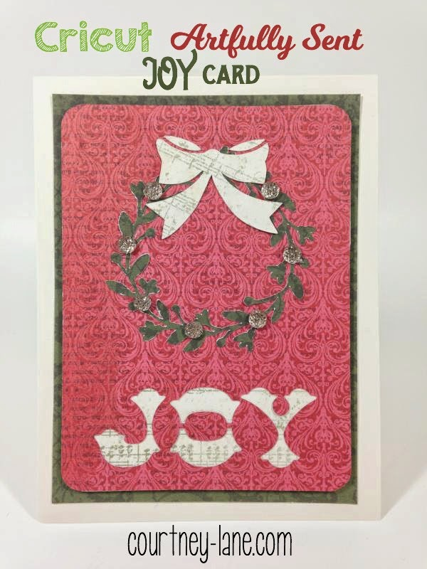 Joy Wreath card