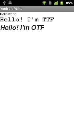 在Android上顯示TTF/OTF