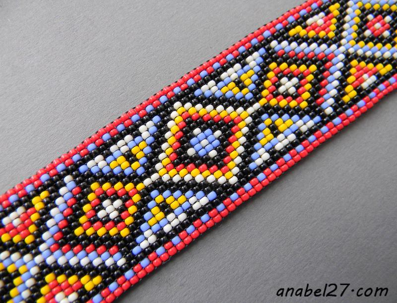 браслет из бисера - ткачество