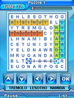 Word hunt 3 Java Touchscreen Mobile Game,games for touchscreen mobiles,java touchscreen mobile games