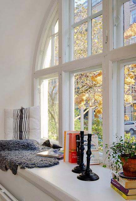 big windows, duże okna, Loft, autumn, jesień, światło,