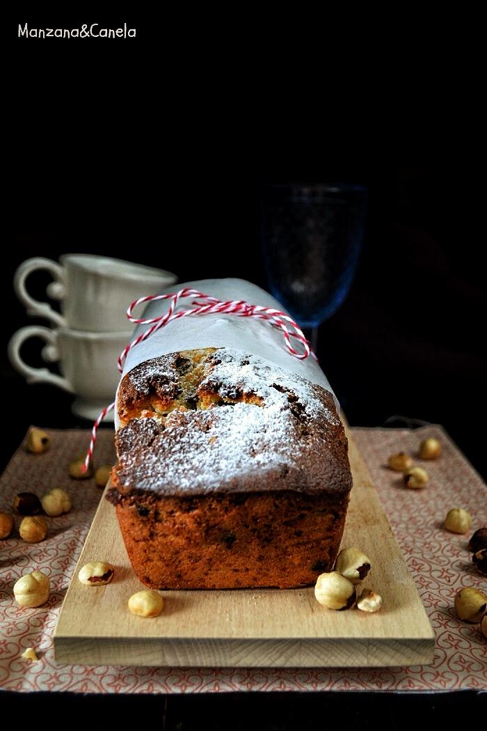 Plum Cake de plátano, avellanas y chocolate (con y sin Thermomix)