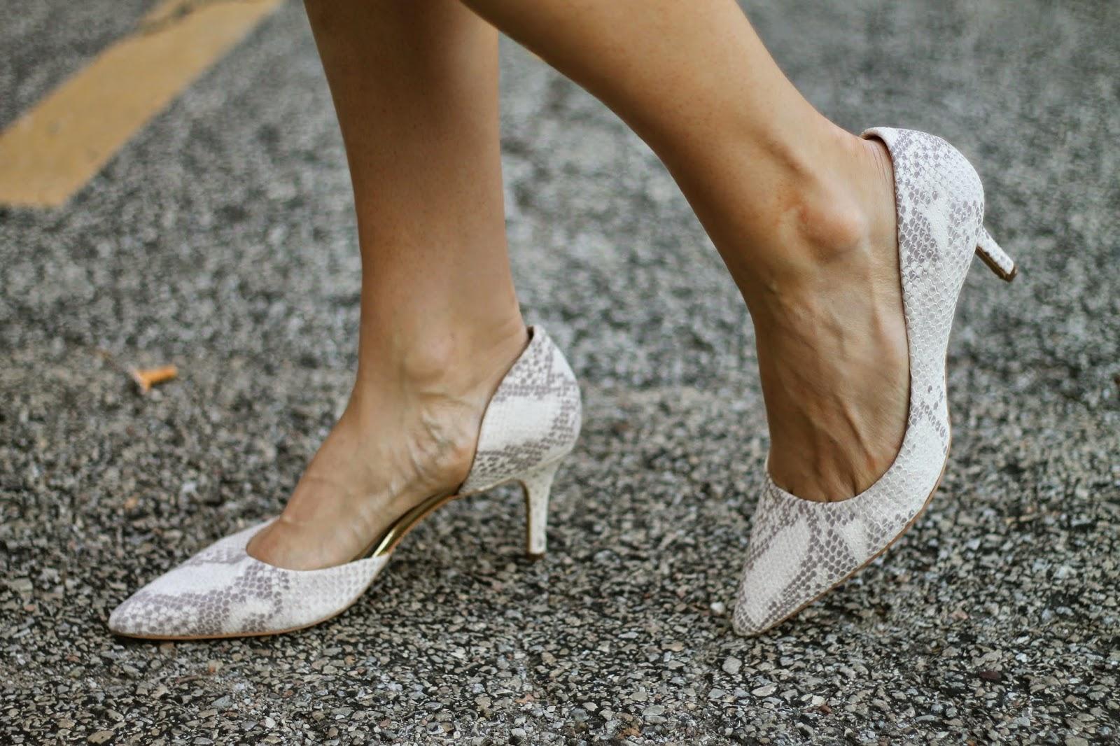 ann, taylor, snake, heels