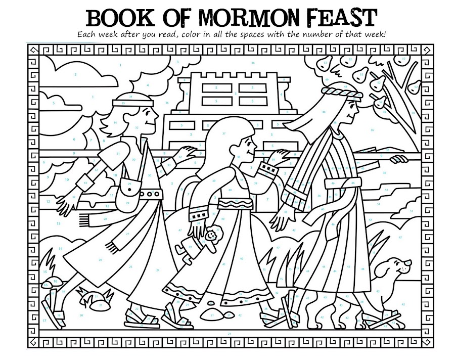 book of mormon coloring pages - photo#8