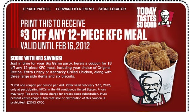 picture regarding Kfc Printable Coupons called Kentucky fried fowl discount codes and offers : Steelseries
