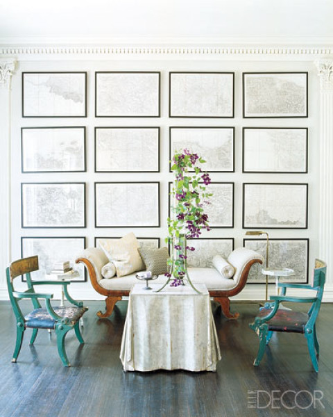 Hanging art an easy way to create a beautiful gallery for Dining room artwork prints