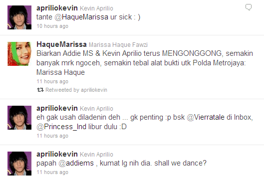 Tweet War Marissa Vs Kevin