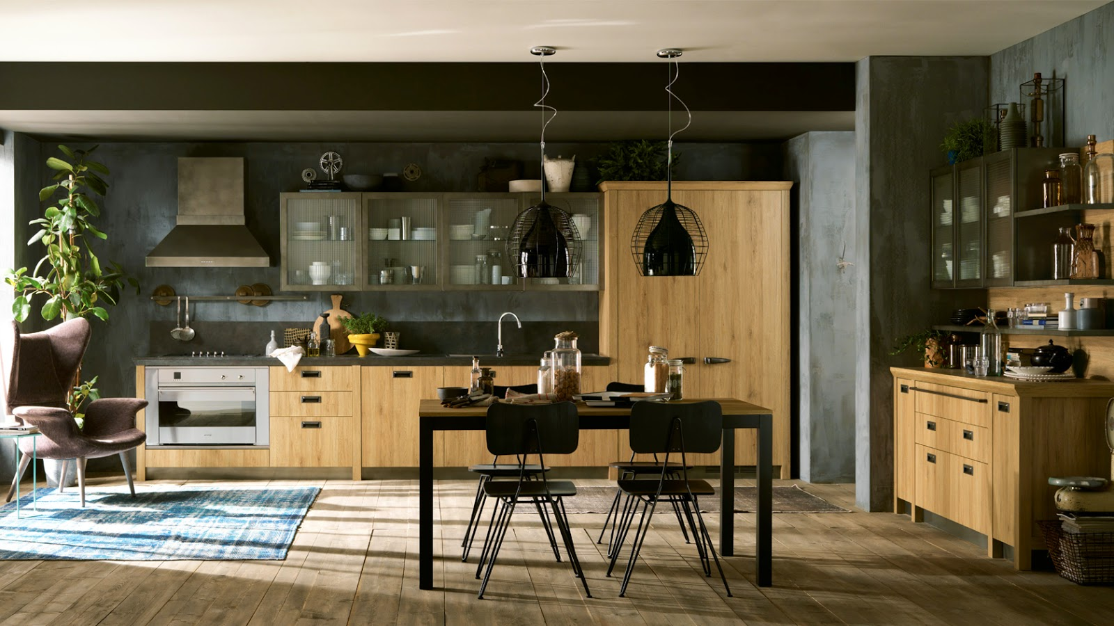 #8E6E3D Cozinhas estilo industrial Decoração Fácil 1600x900 px Estilo De Cozinha Em Casa_222 Imagens