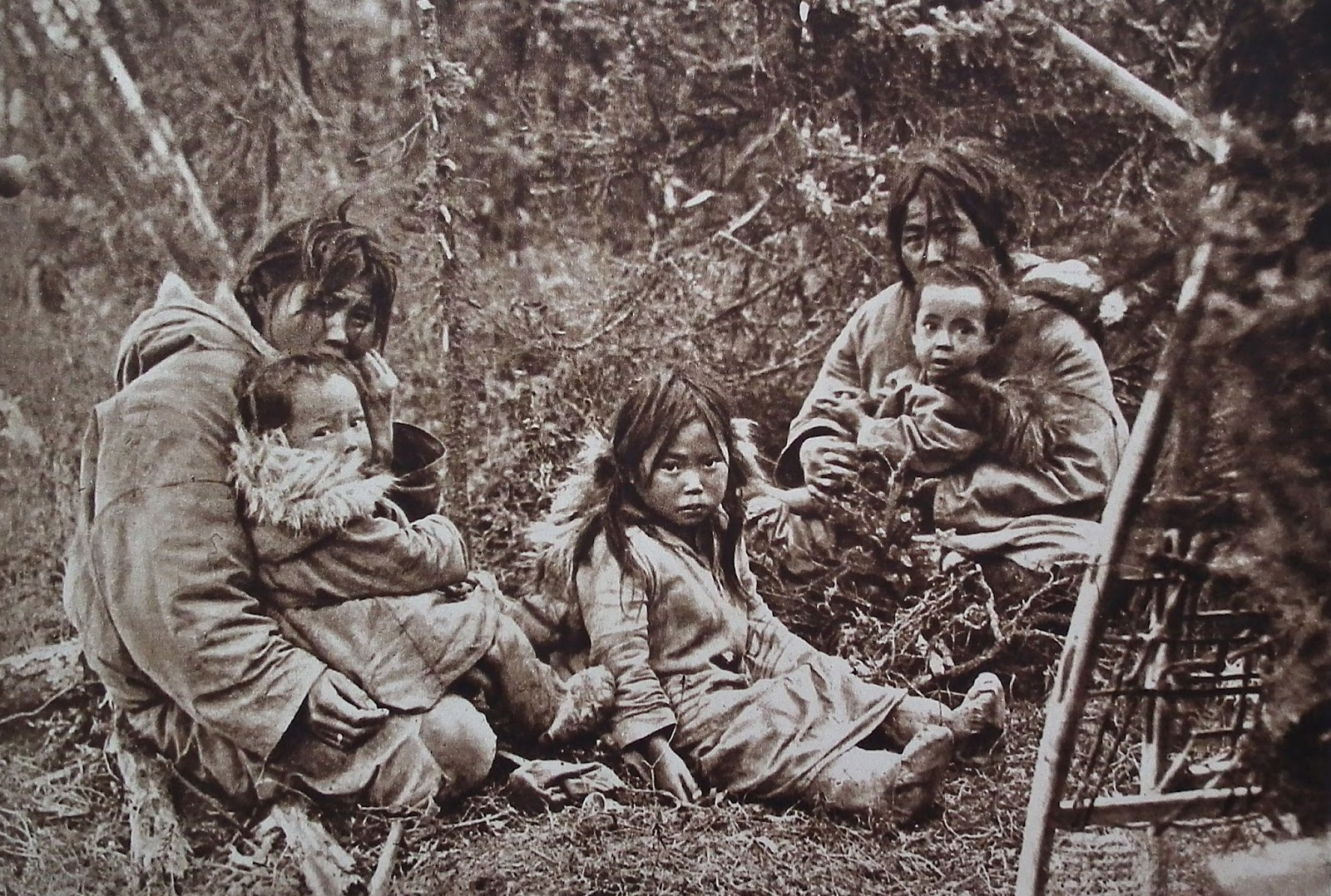 alaska indians I'm dyiing if your white, you aren't native american of course you could be born  in america but that don't make you native also, alaskan natives are not asian.