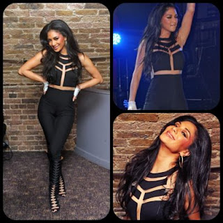 Nicole Scherzinger Black Mesh Missguided Jumpsuit Celebrity
