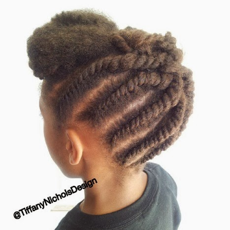 ... Nichols Design: Kid Edition: Flat-Twist Updo Protective Hairstyle