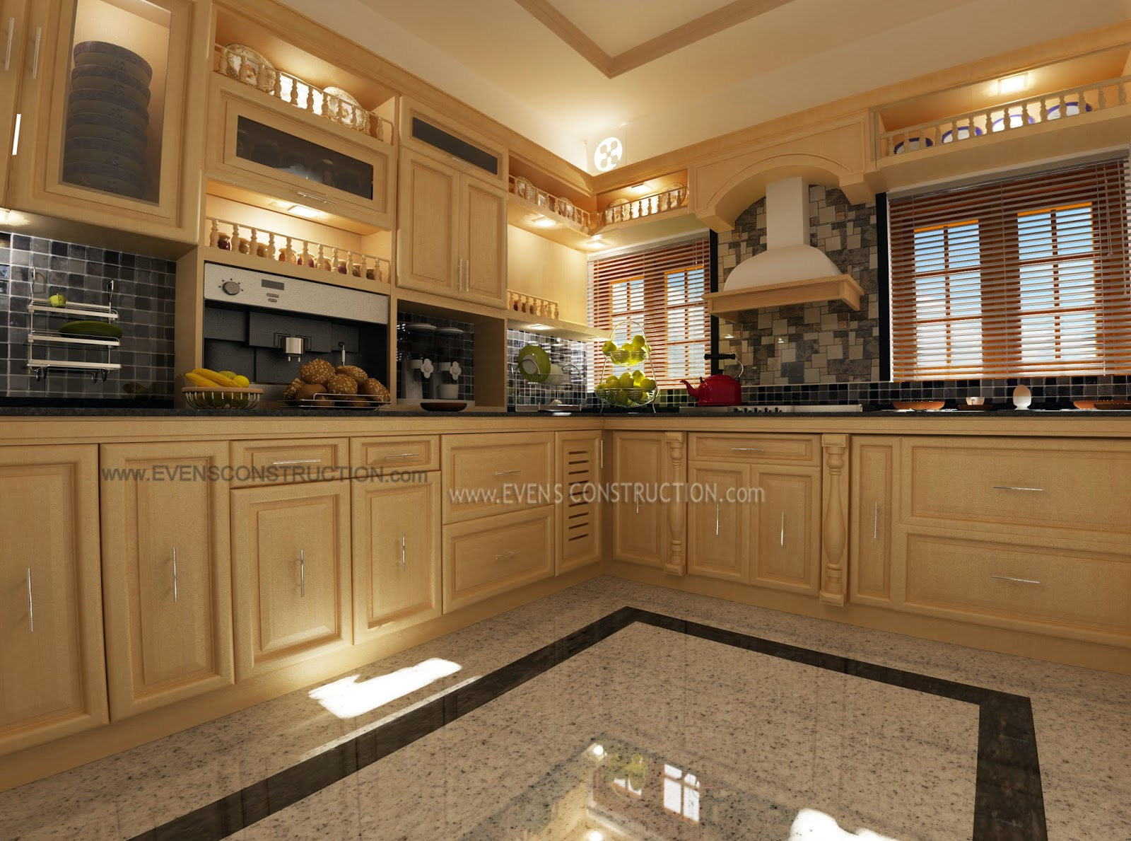 Kitchen Designed For Modern Kerala Home Home - Kerala home kitchen designs
