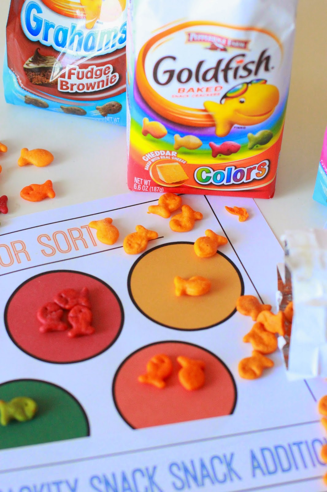 Larissa Another Day: Goldfish Snack Math Sheets