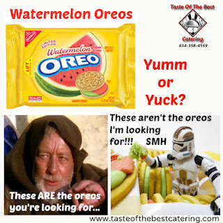 Have you seen these yet - Watermelon Oreos - Yumm or Yuck?  - Taste Of The Best Catering