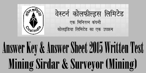 Western Coalfields Answer Key 2017