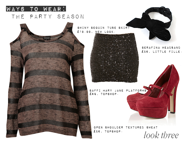 daisybutter - UK Style Blog: ways to wear, party season, christmas, sequinned skirt