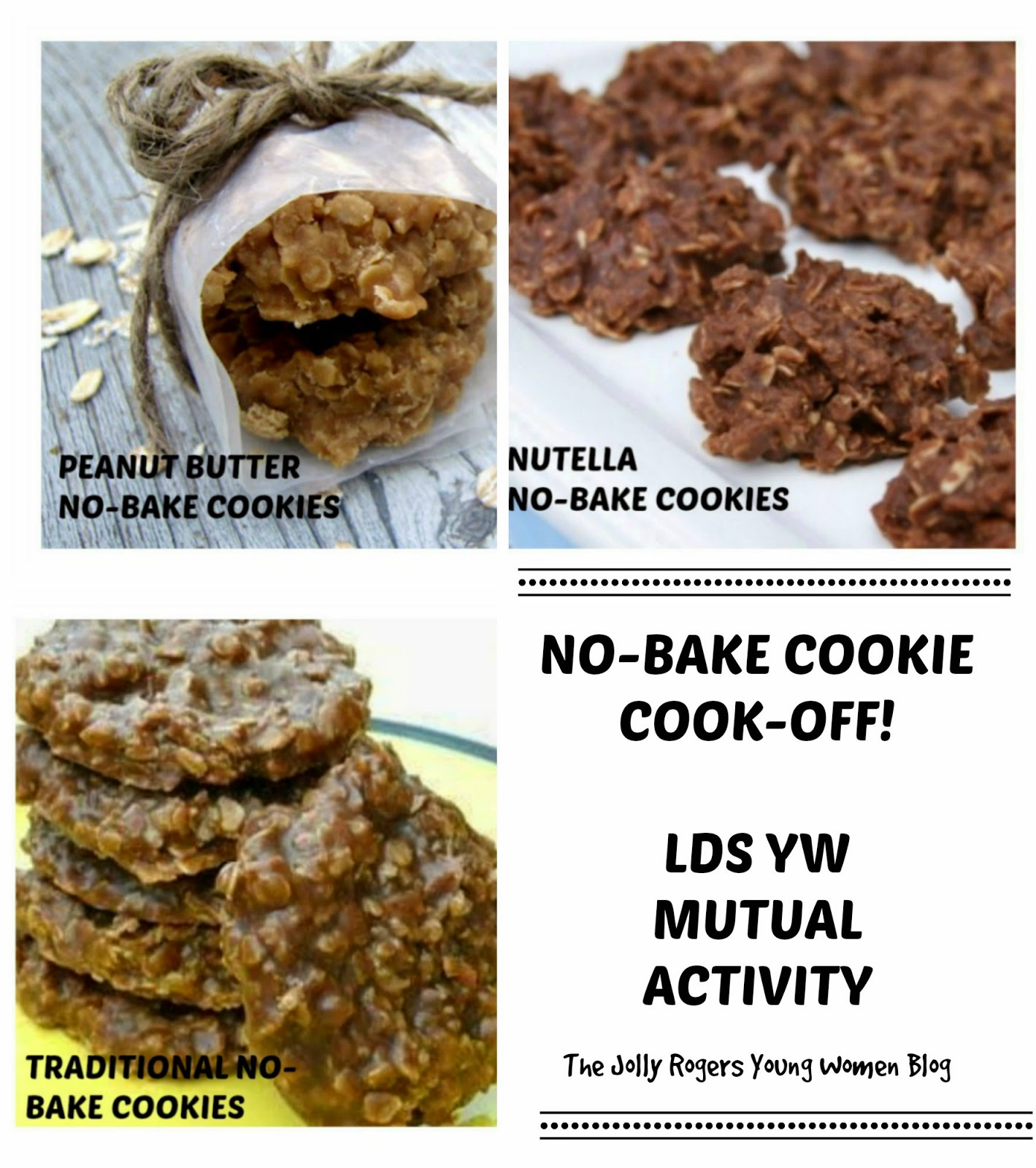 Peanut-Butter No-Bake Cookies (recipe HERE ), Nutella No-Bake Cookies ...