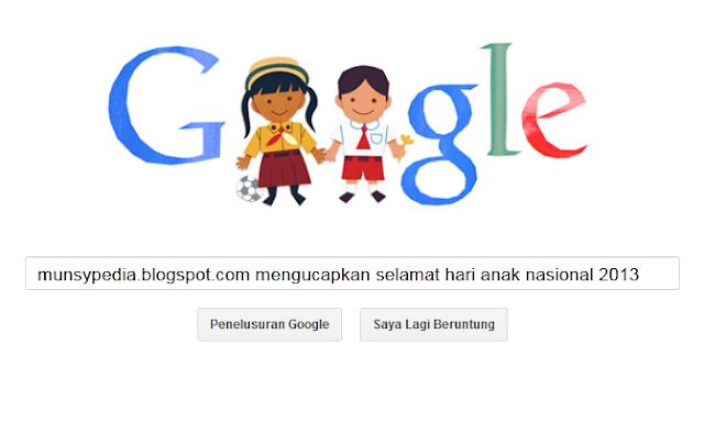 Hari Ini Google Ikut Memperingati Hari Anak Nasional