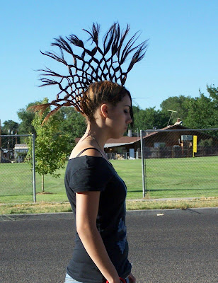 cool mohawk hair girl with the dragon tattoo braids faux hawk haux