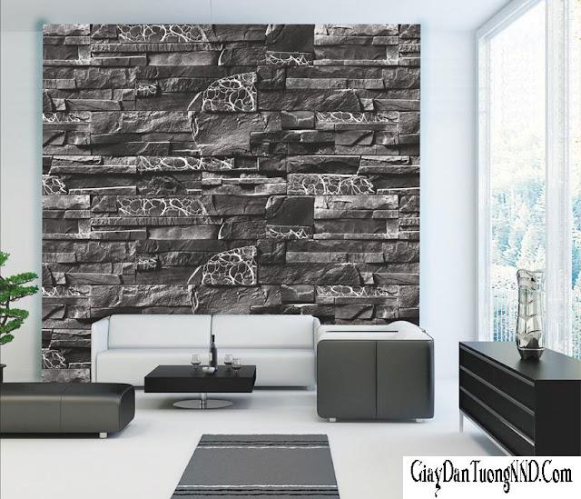 Sử dụng mẫu giấy dán tường 3D làm điểm nhấn cho phòng khách