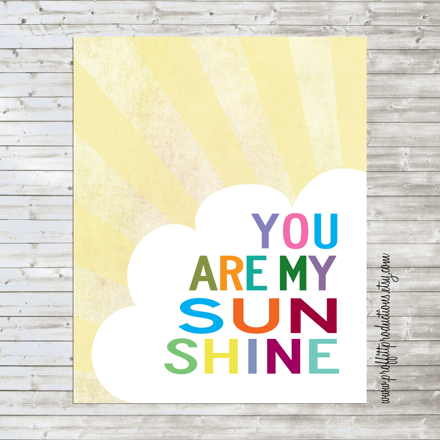This is an image of Amazing You Are My Sunshine Free Printable