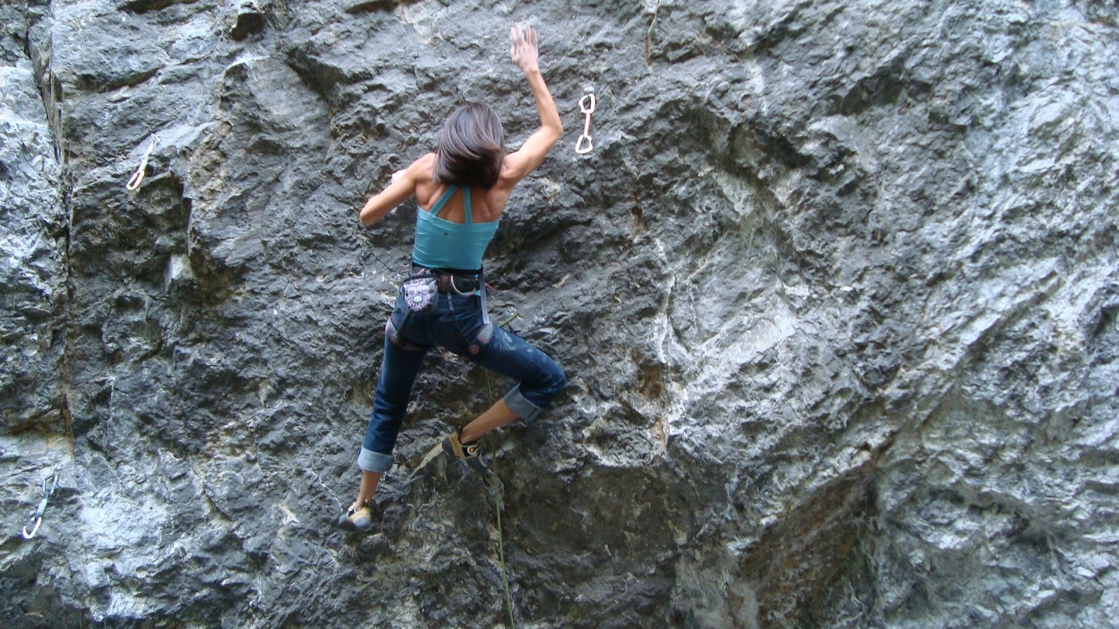 Women Climbing Mountain
