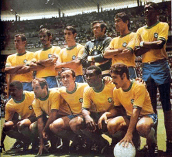 Brazil Squad World Cup 1970 with Pele