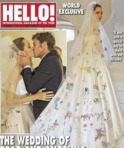 photos from the wedding of Angelina Jolie and Brad Pitt