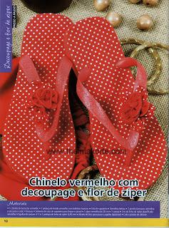 CHINELOS CUSTOMIZADOS COM FLOR DE ZIPER POR THELMA KORTE