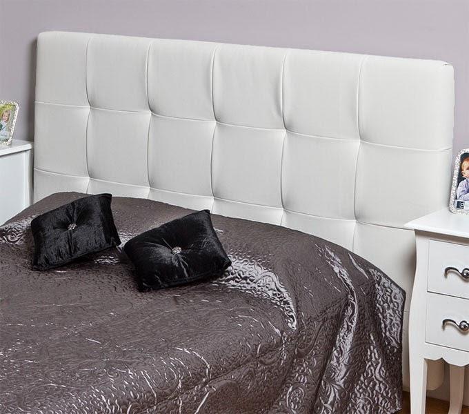 Cabecero de cama poli piel blanco, cabecero dormitorio